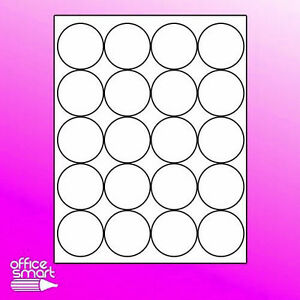 400 Sheets 2 Round White Blank Labels Stickers Laser Inkjet Round Labels