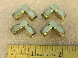 4 Sma Rf Coaxial Right Angle Adapters Sma m m Dc 18ghz
