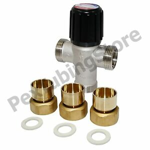 Honeywell Am102r us 1 Mixing Valve For Heating Only 1 Union Sweat 70 180f
