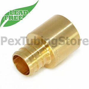 100 1 2 Pex X 1 2 Female Sweat Adapters Brass Crimp Fittings Lead free