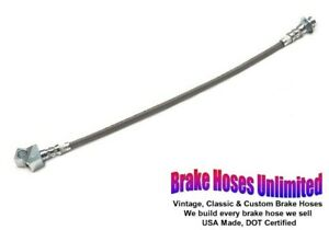 Rear Stainless Brake Hose Ford Mustang 1964 1965 1966 With Single Exhaust