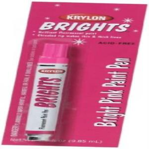 Krylon K09921000 Brights Fluorescent Paint Pen 33oz Bright Pink Marker Office