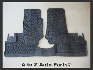 New 2007 2013 Jeep Wrangler Jk 4 door Slush Style Rubber Floor Mats Oem Mopar