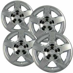 4pc Hubcaps 17 Chrome Impact Resistant Abs Snap On Replacement Wheel Cover