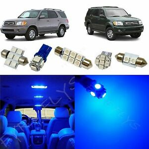 16x Blue Led Lights Interior Package Kit For 2001 2003 Toyota Sequoia Ts6b