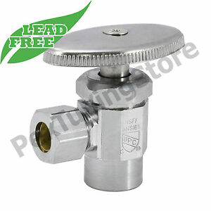 10 1 2 Sweat X 3 8 Od Compr Angle Stop Valve Multi turn Lead free Nsf Upc