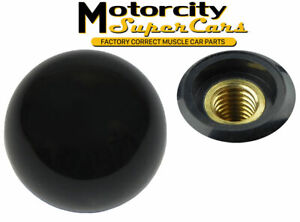1964 88 Shift Ball Black 3 8 16 Coarse Thread 4 Speed Shifter Handle Knob Hurst