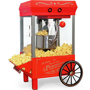 Mini Cart Popcorn Maker Machine Kettle Popper Countertop Home Pop Corn Kpm 508