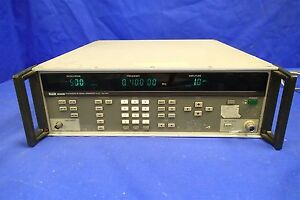 Fluke 6060b Synthesized Rf Signal Generator Parts not Working Screen Locked
