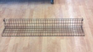 Six X 47 Slatwall Wire Slat Wall Retail Display Shelf Powder Coat Brown
