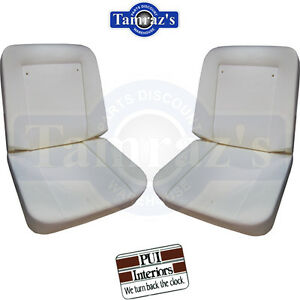 1967 1968 Chevy Pickup Truck Front Bucket Seat Buns Foam Cushion Pair Pui New