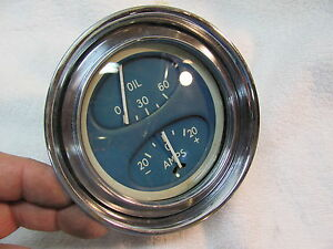 Vintage Chris Craft Curved Glass Amp Oil Gauge Date Code H 1 Vgc 1940 Rare