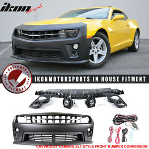 Fits 10 13 Chevy Camaro Zl1 Pp Front Bumper Cover Daytime Running Light