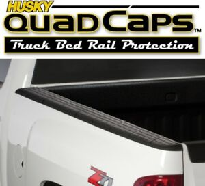Husky 97131 Quad Caps Bed Rail Protectors Gmc Sierra 5 8 Truck Bed 2007 2013