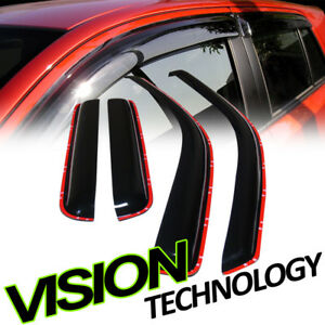 In Channel Vent Shade Window Visor 4pc 04 12 Chevy Colorado Gmc Canyon Crew Cab