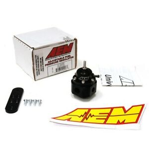 Aem Universal Billet Fuel Pressure Regulator Fpr 25 302bk 1000hp 6an 9 16 18