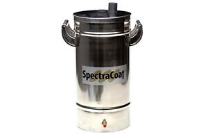 Powder Coating Paint Constant Fluidizing Hopper 5lb Stainless Steel