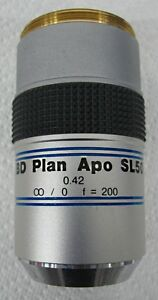 C101091 Mitutoyo Bd Plan Apo Sl50 0 42 0 F 200 Microscope Objective Lens 40mm
