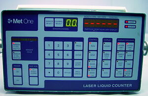Met One 233 Dual Sensor Laser Liquid Particle Counter 115v 60hz