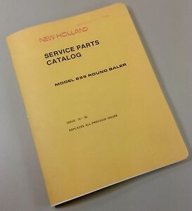 New Holland Service Parts Catalog Manual Model 855 Round Baler Issue 10 86