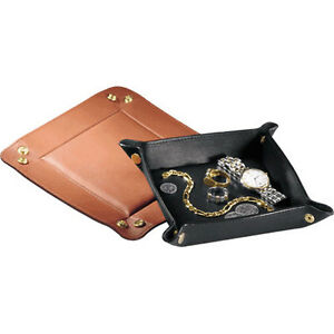 Royce Leather Travel Valet Tray Top Grain Nappa Leather Tan