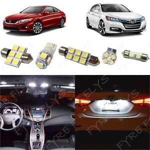 14 White Led Interior Lights Package Kit 2013 2017 2018 Honda Accord Tool Ha2w