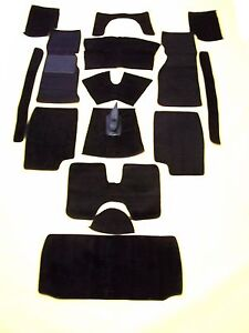 Triumph Tr4a 250 Tr6 Black Loop Carpet Kit Crazy Price With 20 Ounce Padding