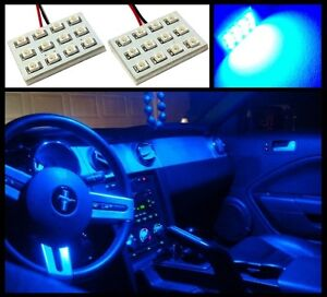 2 Pieces Blue 12 Led Dome Map Interior Light Smd Panels Xenon Bulbs Hid Lamp a2