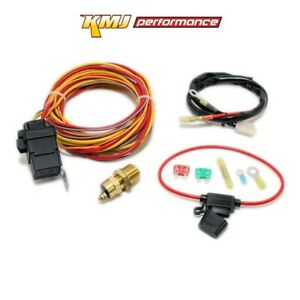 New Electric Cooling Fan Wiring Install Kit 185 165 Thermostat 50 Amp Relay