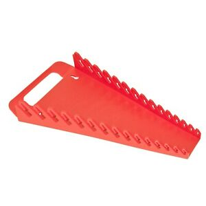 Ernst 5088 15 Tool Gripper Wrench Organizer Red