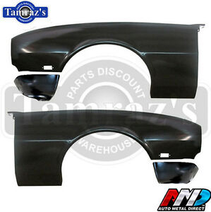 68 Camaro Rs Front Fender With Extension Lic Gm Restoration Part Pair Amd