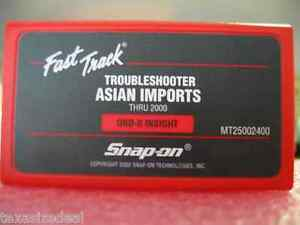 Snap On Mt2500 Mtg2500 Scanner 2000 Asian Troubleshooter Cartridge Mt25002400