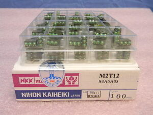 Box Of 100 New M2t 12 Sealed Miniature Toggle Spdt Switches 6a 125vac 4a 30vdc
