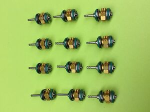 Star Dental 430 Turbine Push Button Ceramic Lot Of 12 gold Series Lube Free