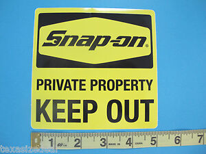 Genuine Official Snap On Tools Private Property Keep Out Sticker Decal 5 New