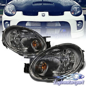 2003 2004 2005 Dodge Neon Se Sxt Srt 4 Black Factory Style Headlights Pair