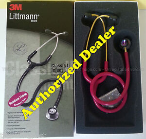 2157 Raspberry Rainbow 3m Littmann Classic Ii Infant Stethoscope Littman 28