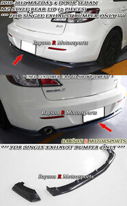 Ms Style Rear Lip Single Exhaust Fits 10 12 Mazda 3 4dr