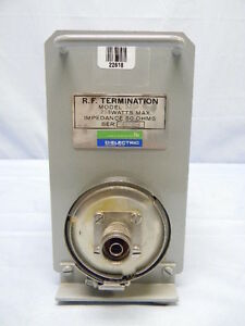 General Signal dielectric 5250 Rf Termination Dc 1ghz 250 watts 50 ohms Tested