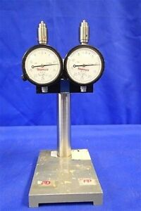 Lot Of 2 Starrett No 25 131 Indicator W 8 Adjustable Stand
