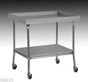 High Quality Steel Cart With Plastic Laminate Top Tray Shelf Usa Made