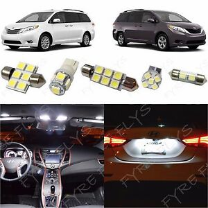 17x White Led Lights Interior Package Kit For 2011 2020 2021 Toyota Sienna Tool