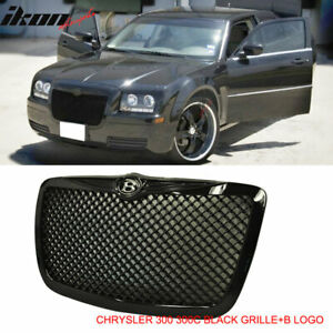 Fits 04 10 Chrysler 300 300c Black Mesh Diamond Front Hood Grill Grille