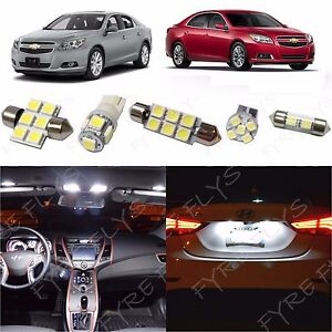 12x White Led Lights Interior Package Kit 2013 2014 2015 Chevy Malibu Tool Cm1w