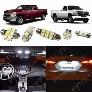 14 White Led Interior Lights Package 2007 2013 Chevy Silverado Gmc Sierra Cs3w