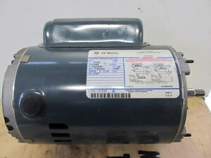 Ge Electric Ac Motor Mod 5kc38nn3482at Hp 1 Rpm 3450 Volts 115 230 Ph 1