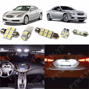 White Led Lights Interior Package Kit For 2008 2014 Infiniti G37 Coupe Tool Ig3w