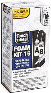Touch N Seal U2 15 Spray Foam Insulation Kit 15 Bf Closed Cell 4004520015