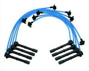 Ford Racing Spark Plug Wires Spiral Wound 9mm Blue 45 Deg Boots Ford F 150 4 6l
