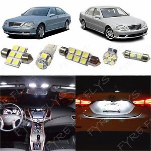 19x White Led Lights Interior Package Kit For 1998 2006 Mercedes S clas